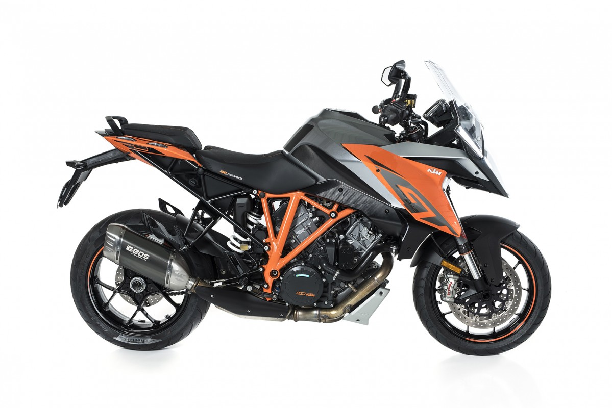 KTM 1290 Super Duke GT- BOS kipufogó - Carbon Steel